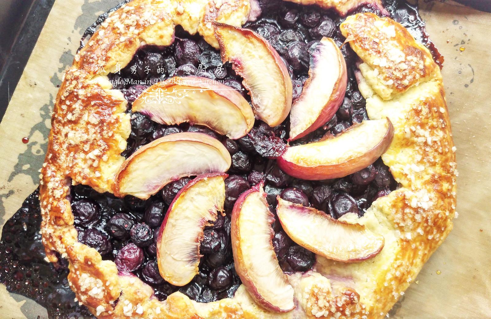 孤身廚房-藍莓甜桃法式烘餅Blueberry-Nectarin Galette26
