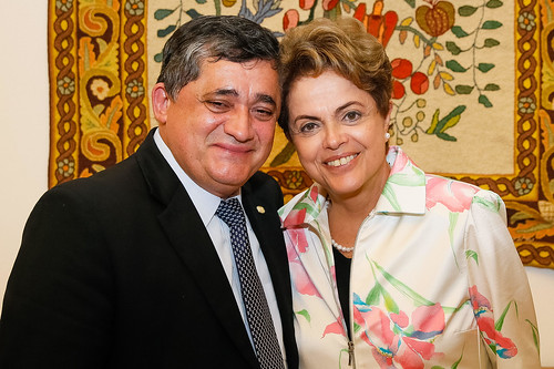 Dilma recebe líder e vice-líderes no Palácio do Planalto