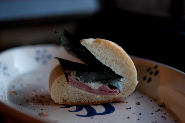 sandwich with NORI