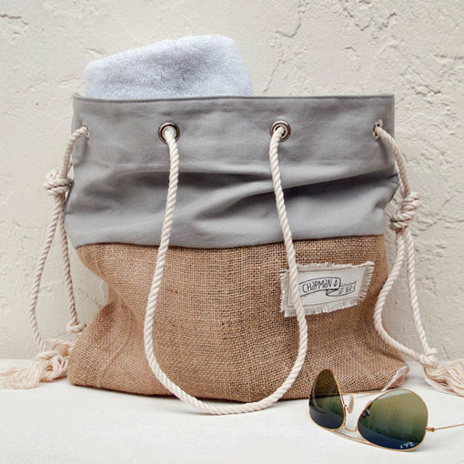 etsy greay canvas beach bag