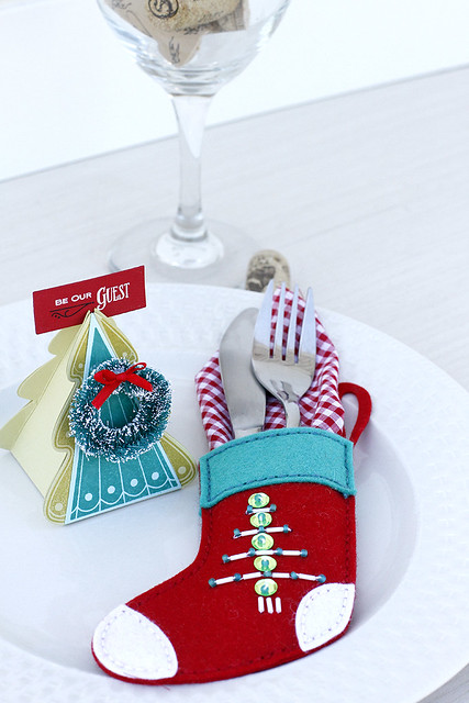 Set your holiday table with the Christams Tree Change Up Collection and Beaded Holiday Quick Stitch Kit