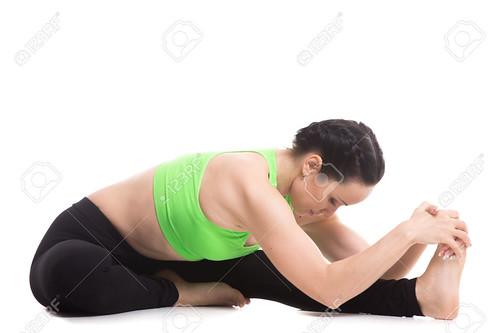 Head-to-Knee forward bend yoga asana