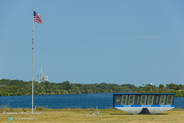 Thu, 11/01/2012 - 15:16 - NASA's famous Countdown Clock, with Launch Pad 39A visible in the distance. - November 01, 2012 3:16:56 PM - Titusville, Florida (28.5822,-80.6456)