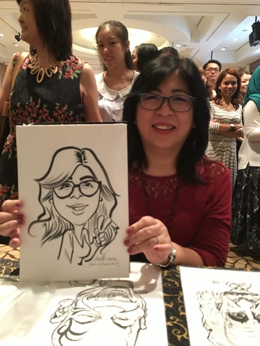 Caricature live sketching for Busy Bees Brunch Celebration 2015