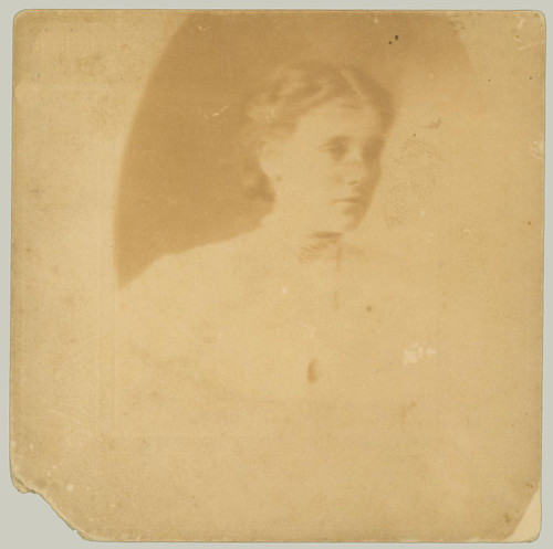 reverse of matted portrait