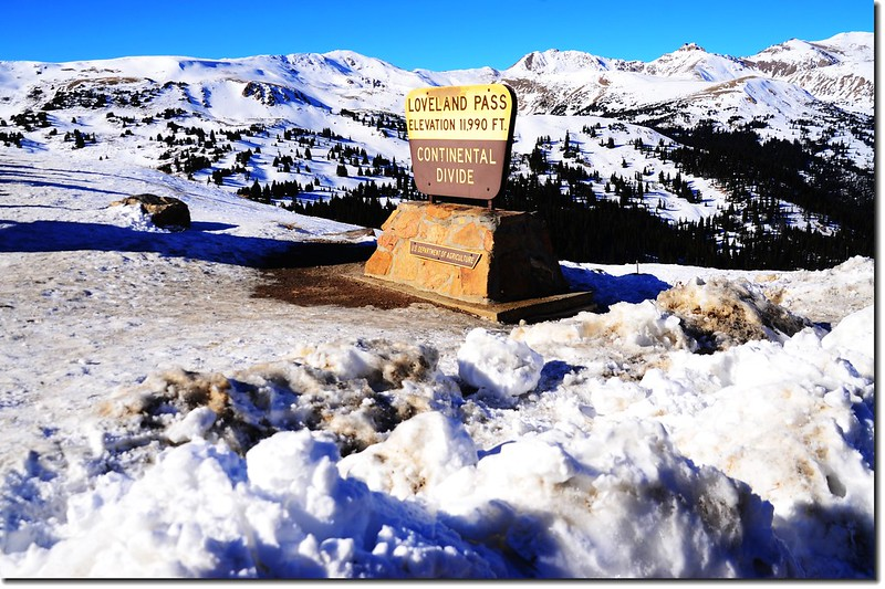 The summit of Loveland Pass