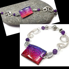 polymer clay Purple Jade bracelet