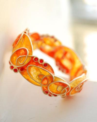 Ampersand Spiral Cuff Bracelet