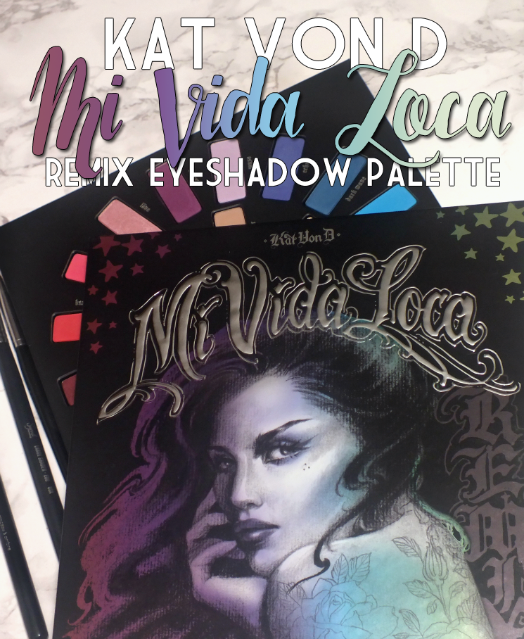 Kat Von D Mi Vida Loca Remix Eyeshadow Palette swatches review eye look (3)