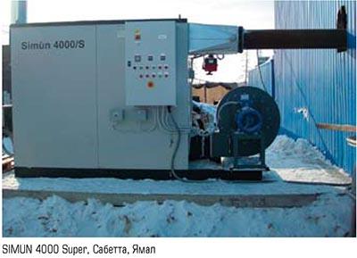 Генератор горячего воздуха SIMUN 4000 SUPER