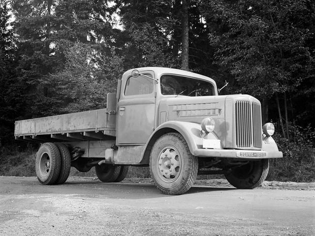 Бортовой грузовик Scania-Vabis L12. 1948 год