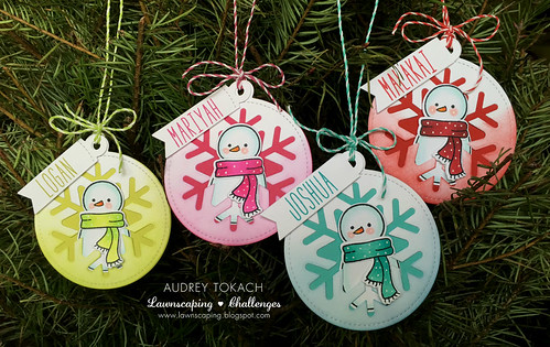 Colorful Snowman Tag Set