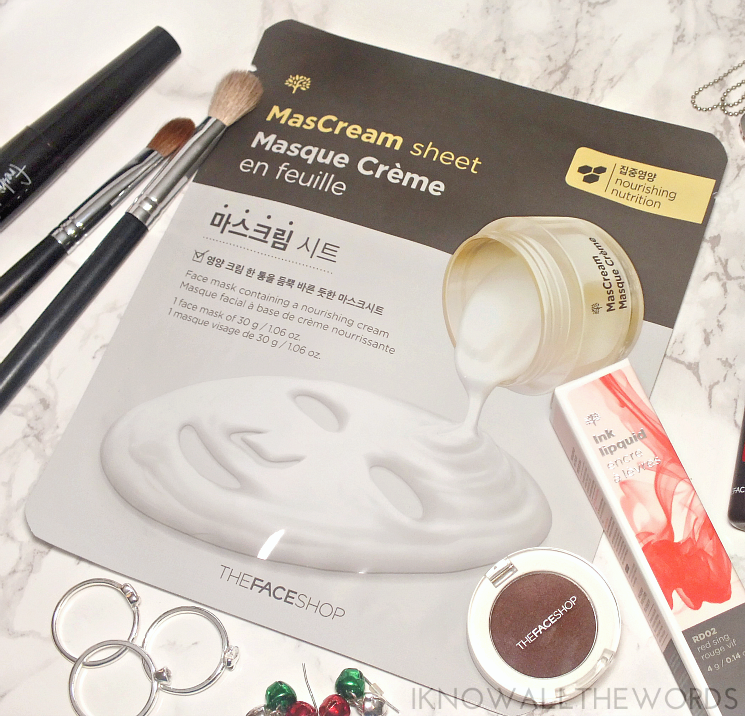 THEFACESHOP Holiday FOTD MasCream Sheet Mask Nourishing