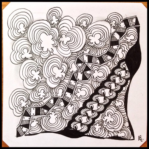 Zentangle 120 for Weekly Challenge #36: Tangle with X-P-I