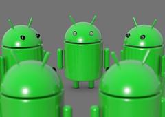 Android Roboter im Kreis - Nahaufnahme