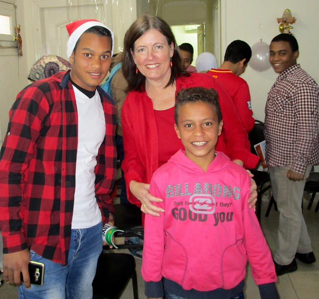 With Santa and an, Canon IXUS 180