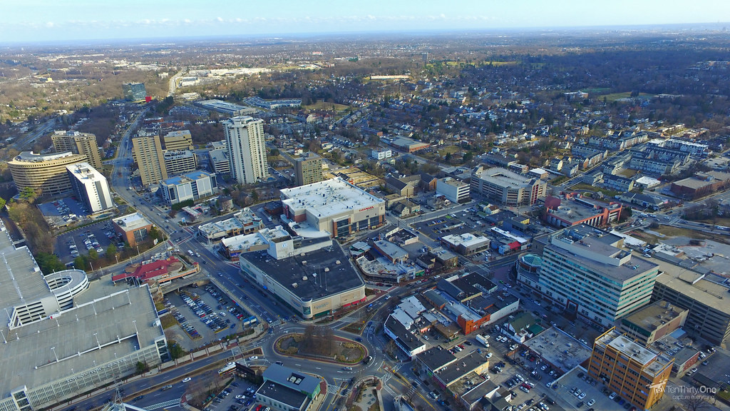 Downtown Towson Maryland Aerial