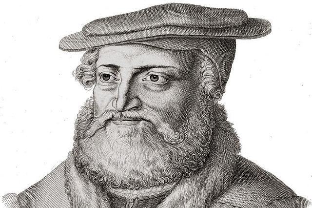 Engraving of Hans Sachs (1494–1576)