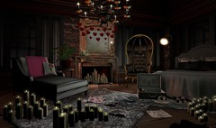 Dark Romance Bedroom (Brook Hill Living & Park Place)