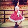 Bailarina folclórica chilena en Estancia El Cuadro, valle de Casablanca