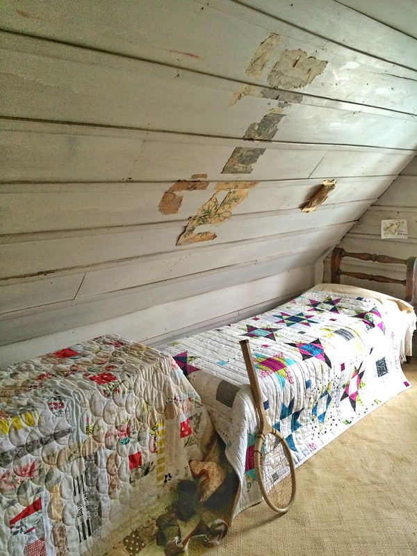 New Quilts for Alberton Beds - attic bedroom