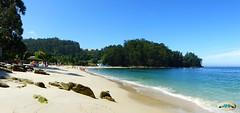 Praia de Mogor, marea baixa