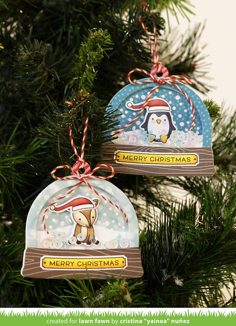 Ready Set Snow ornaments