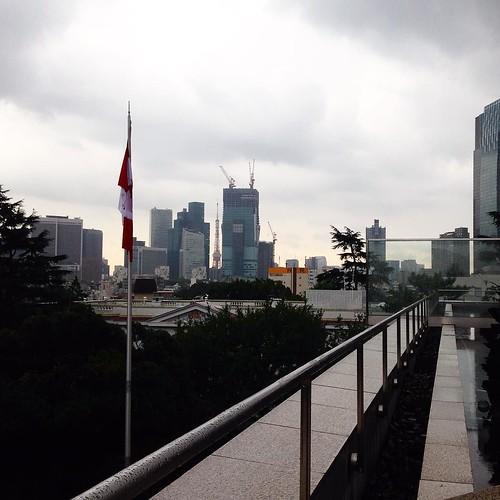 カナダ大使館からの景色。