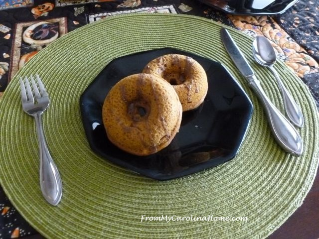 Spiced Pumpkin Cake Donuts at From My Carolina Home