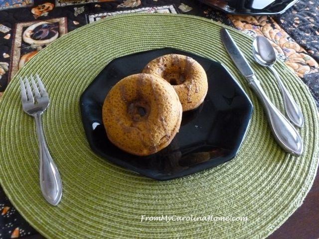 Spiced Pumpkin Cake Donuts at From My Carolina Home