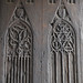 Gothic style carved wooden doors - chapel of Château d'Angers by Monceau