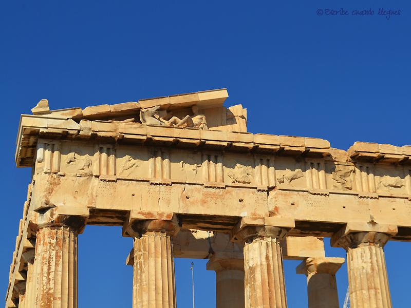Uno de los frontones del Partenón