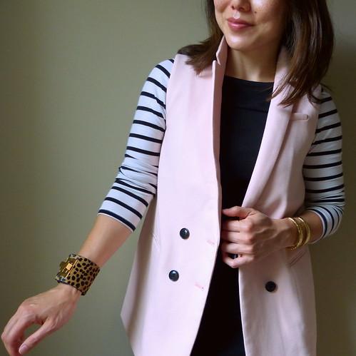 long pink vest