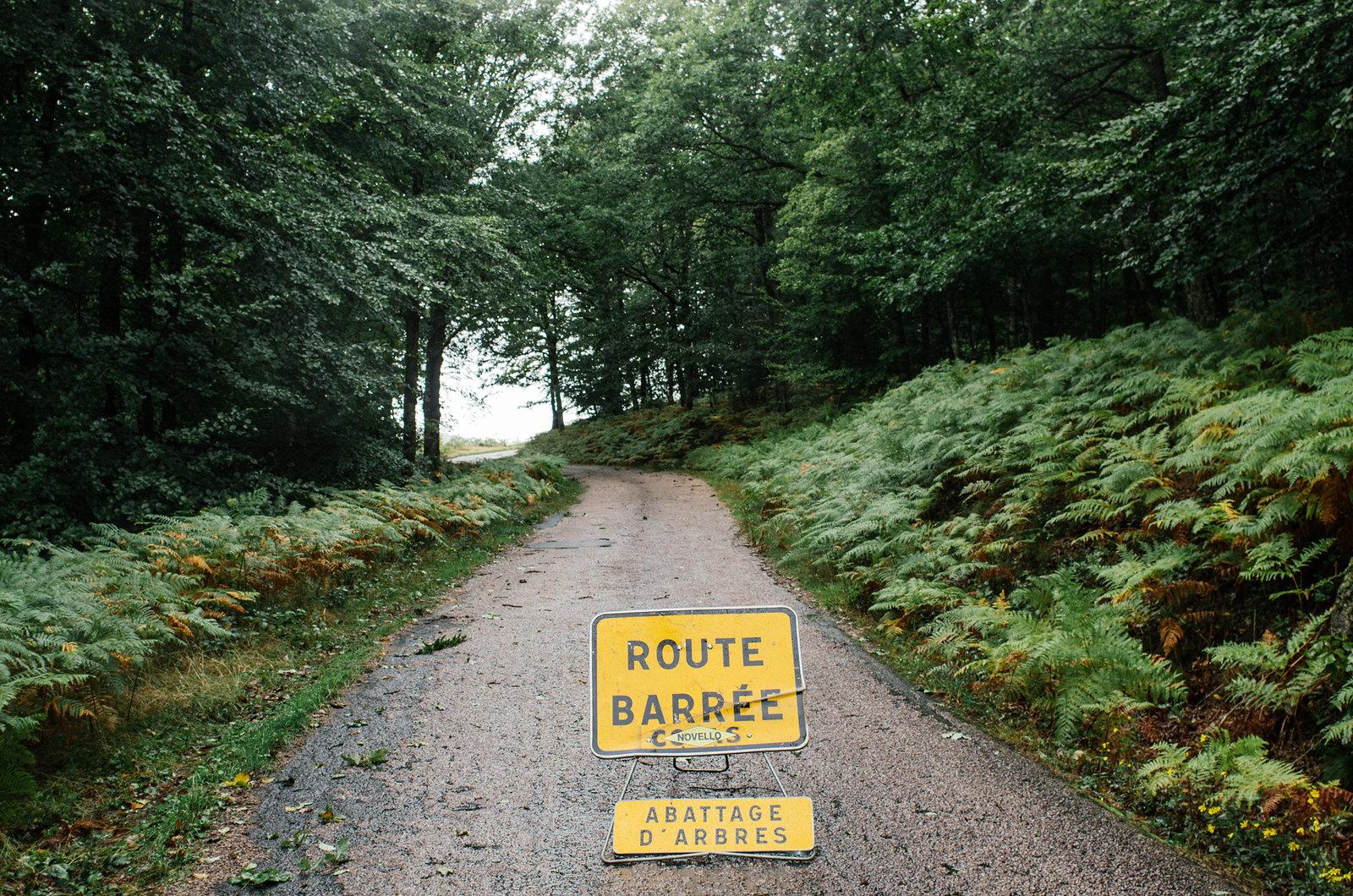 Grande traversée du Morvan - Route barrée