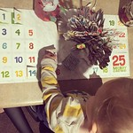 Toddler + advent calendar = cheating It's not the 14th yet little man! Thanks Nana Jo for the gift 😊 by bartlewife