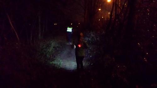 Night trail run