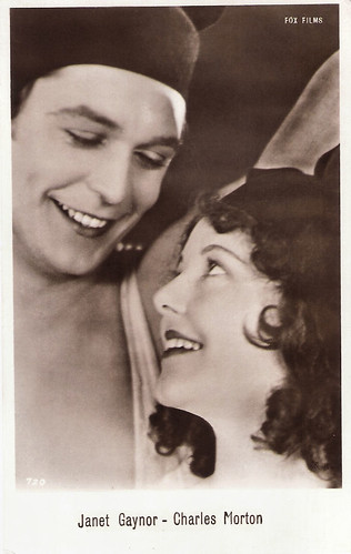 Janet Gaynor and Charles Morton in 4 Devils (1928)
