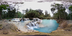 Second pool at Kuang Si falls, Luang Prabang Laos