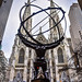 St Patrick's Cathedral and Atlas sculpture - Manhattan New York City NY