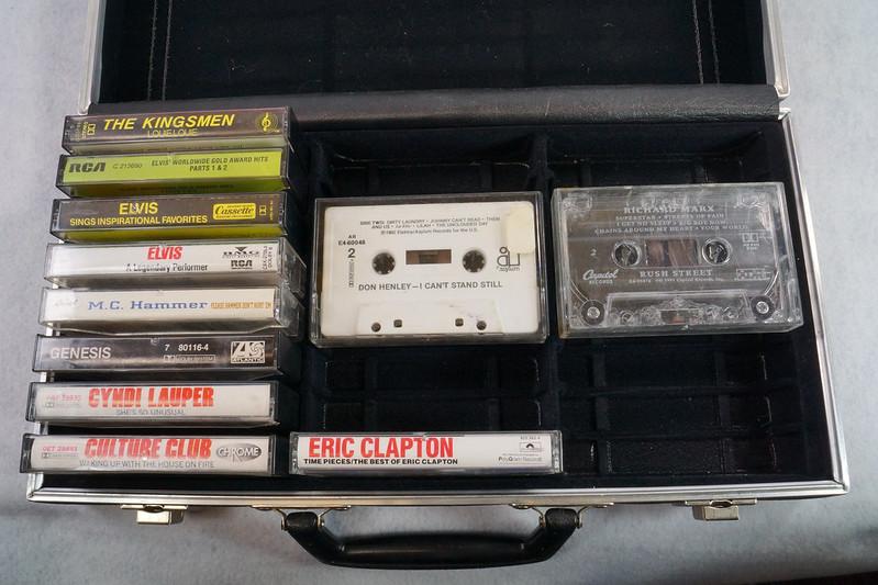 RD12878 Vintage Savoy 24 Cassette Tape Case Haverhill, MA with Bonus Tapes DSC08093