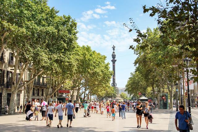 Barcelona - La Rambla view 2