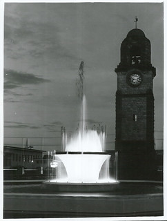 Memorial fountain and clock at Blenheim, Marlborough