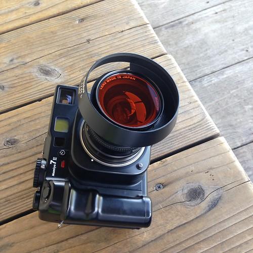monochrome setup, Mamiya 7II + N65mm F4L w/YA2 filter