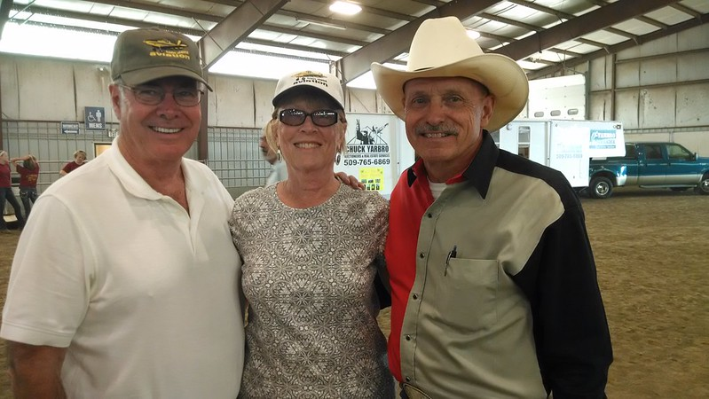 At the fair with my friends, Doug and Nancy Reuter.
