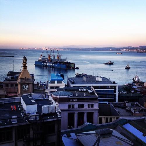 Atardecer de película en mi querido #Valparaíso