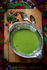 creamy green pea soup