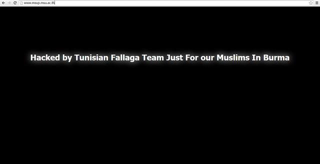 Electronic jihadists from Tunisia attack Thai websites