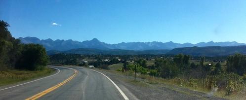 mountain colorado driving view