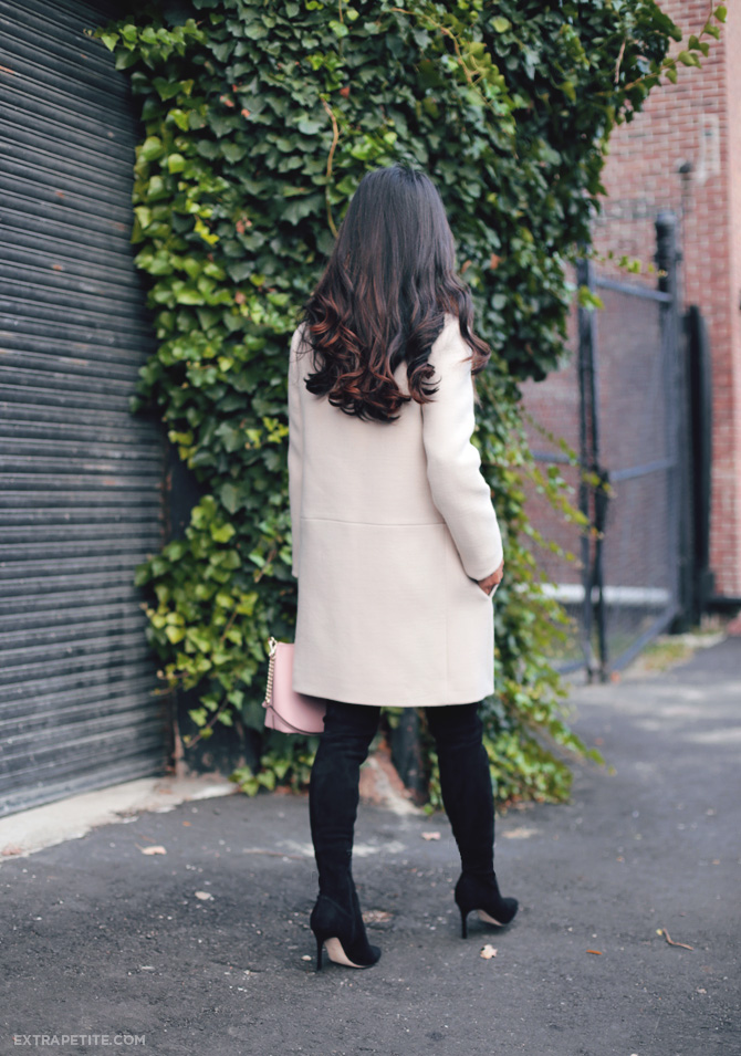 kate spade coat over the knee boots