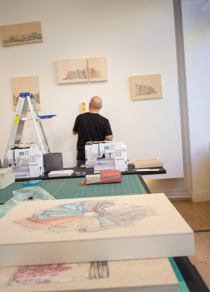 Fabric Stash Drawing Show at Drygoods Designs in Seattle Sept 2015